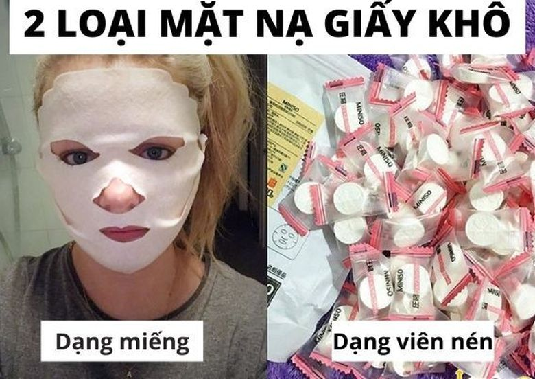 Những cách sử dụng mặt nạ giấy khô được chị em yêu thích nhất, mặt nạ giấy khô là gì?