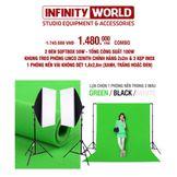 [COMBO] Bộ đèn chụp ảnh/Livestream Tianrui 50W (Hoặc 80W) & Khung treo phông 2x2m (Kèm phông nền 1,8x2,8m)