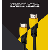 Dây cáp HDMI 1.4 Full HD & Ultra HD (4K) - Đầu mạ vàng 24K