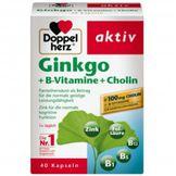 Doppelherz Aktiv Ginkgo + Vitamin B + Cholin – Viên Uống Bổ Não Đức 40 viên