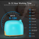 Máy phun tinh dầu cao cấp Gx Diffuser Điều khiển giọng nói / App SmartPhone (Tặng kèm 1 lọ tinh dầu thơm cao cấp)