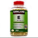 Vitamin E 400 I.U. KirKland 500 viên của Mỹ ( Mẫu mới nắp đỏ)
