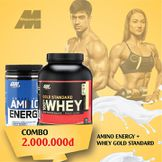 COMBO ON GOLD STANDARD 100% WHEY5LBS + AMINO ENERGY BLUE 9.5 OZ – 270G