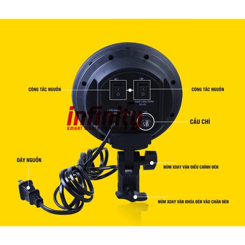 Bộ kit đèn chụp sản phẩm đui 4 bóng công suất cao - Chụp ảnh, quay phim & livestream