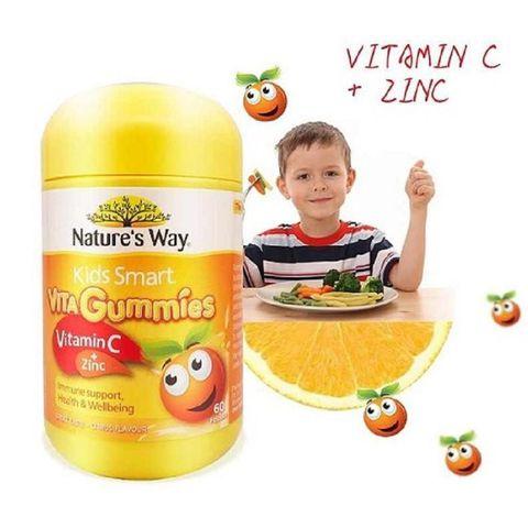 Kẹo dẻo Kid Smart Vita Gummies bổ sung Vitamin C và Kẽm cho bé