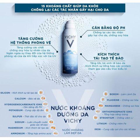 Nước xịt khoáng dưỡng da Vichy Eau Thermale Mineralisante 150ml