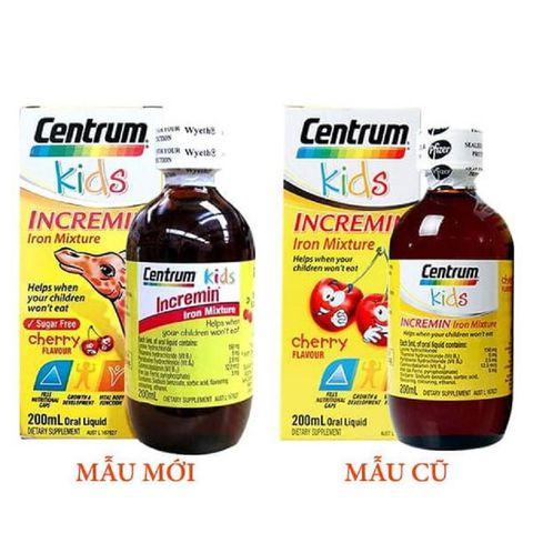 Siro Centrum Kids Incremin Iron Mixture Của Úc 200ml