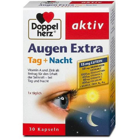 Thuốc bổ mắt Doppelherz Augen Extra Tag + Natch của Đức 30 viên