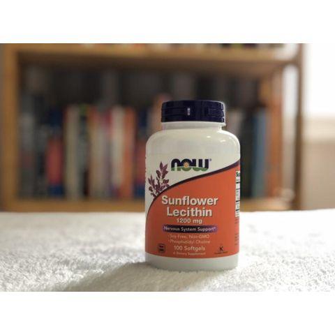 Viên uống chống tắc tia sữa Now Foods Sunflower Lecithin