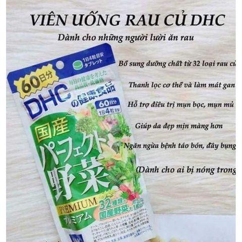 Viên uống rau củ DHC Premium Nhật Bản 60 ngày 240 viên