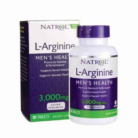Viên uống tăng cường sinh lý cho nam giới từ Natrol L-Arginine 3000mg 90 viên