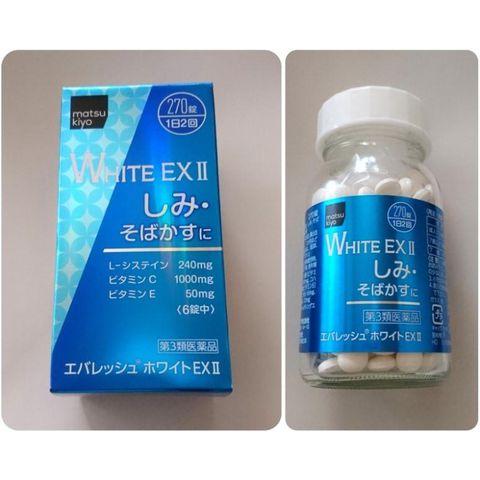 Viên uống trắng da White EX 2 Nhật Bản 270 viên