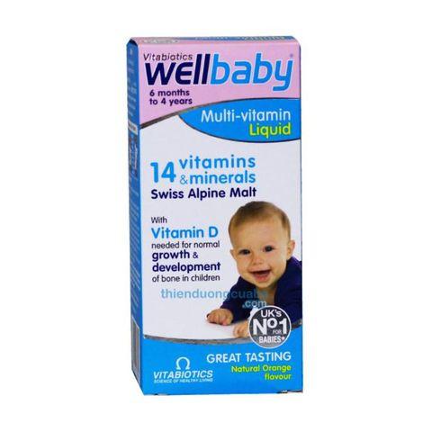 Vitamin Tổng Hợp Wellbaby Của Anh Cho Bé, 6 tháng - 4 tuổi