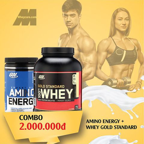 COMBO ON GOLD STANDARD 100% WHEY 5LBS + AMINO ENERGY BLUE 9.5 OZ – 270G