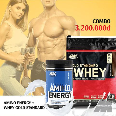 COMBO WHEY GOLD STANDARD 10LBS + AMINO ENERGY