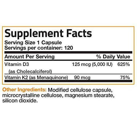 Bronson Vitamin K2 + D3 (120 viên)