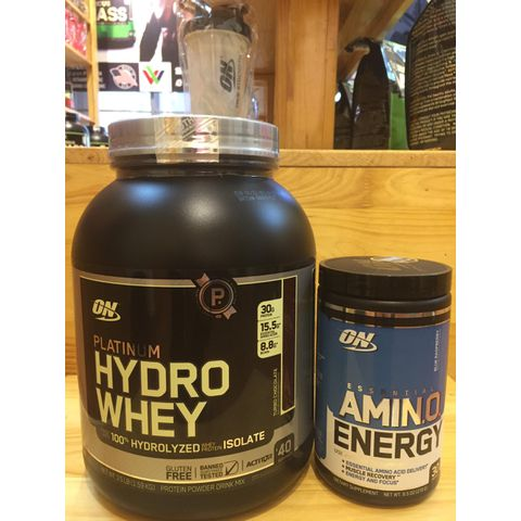COMBO ON PLATINUM HYDROWHEY 3,5 LBS (1,59 KG) + AMINO ENERGY BLUE 9.5 OZ – 270G