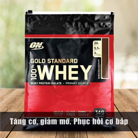 ON GOLD STANDARD 100% WHEY, 10 LBS (4.54 KG) - PROTEIN TĂNG CƠ