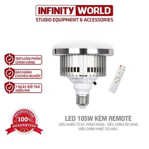 Bóng đèn LED siêu sáng 85/105/150W - Kèm điều khiển từ xa điều chỉnh độ sáng, nhiệt độ màu