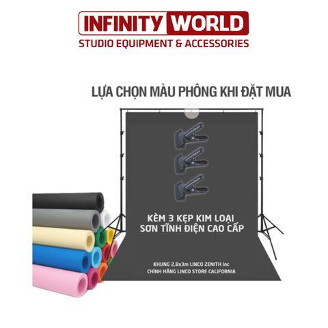 [COMBO] Khung treo phông LincoZenith 2,8x3m & Phông nền vải không dệt 3x5m (Tùy chọn màu)