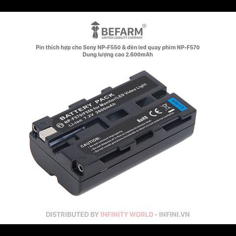 Pin màn hình Sony NP-F550, Pin đèn chụp ảnh Pin NP-F550 dung lượng cao 2.600mAh