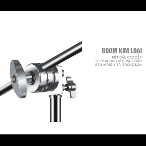 Chân đèn C Stand kim loại & boom treo đèn cao cấp, tải trọng cao