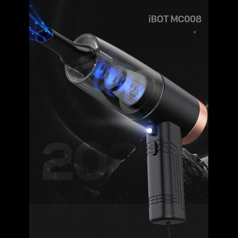 Máy hút bụi oto cao cấp nhiều đầu hút iBot MC008 120W (Black) - Có dây 4,5m