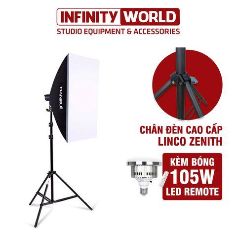 (Chân Đèn Xịn Linco Zenith) Set đèn softbox chụp ảnh sản phẩm / quay phim chính hãng TIANRUI