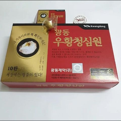 An Cung Ngưu Tổ Kén Kwangdong hàng Hàn Quốc hộp 10 viên