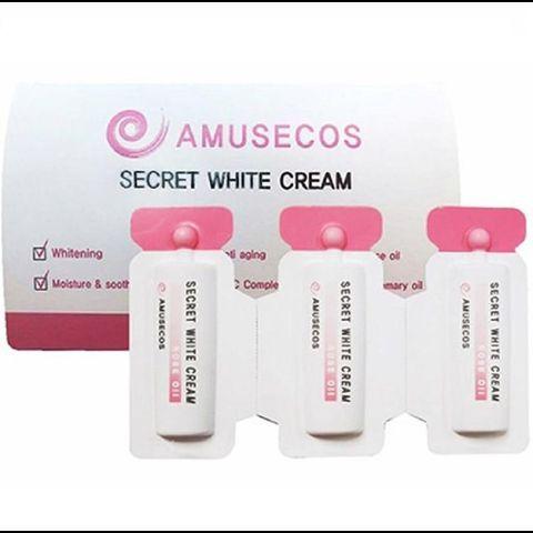 Gel làm hồng se khít vùng kín Amusecos Secret White Cream Rose Oil