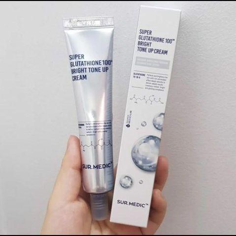 Kem dưỡng trắng da, chống lão hóa Sur.Medic Super Glutathione 100 Bright Tone Up Cream 40ml