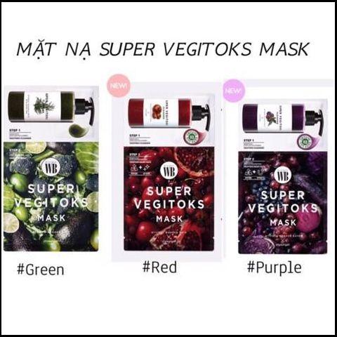 Mặt Nạ thải độc Rau Củ Byvibes Wonder Bath Super Vegitoks Mask ( 1 miếng )