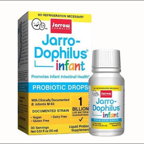 Men đẩy đờm Jarro-Dophilus Infant Probiotic Drops 15ml (Mỹ) cho trẻ sơ sinh
