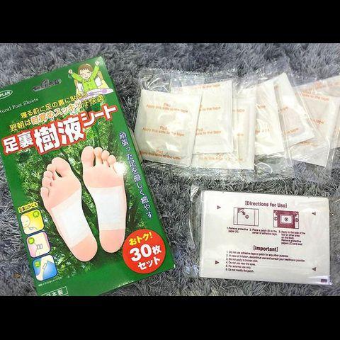 Miếng dán thải độc Kenko của Nhật - Thải Độc Bàn Chân Hộp 30 miếng