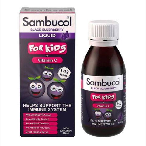 SIRO TĂNG ĐỀ KHÁNG SAMBUCOL FOR KIDS 1-12 YEARS 120ML