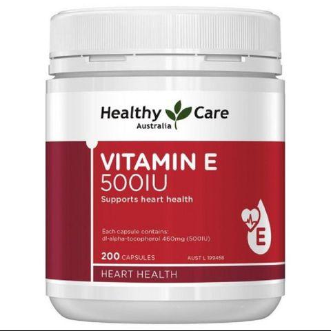 [MẪU MỚI] Vitamin E Healthy Care 500IU 200 viên của Úc