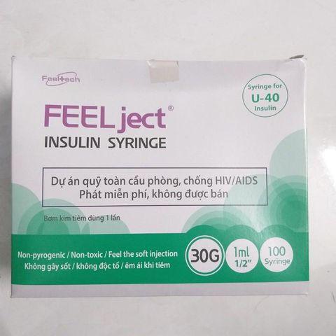 Bơm Tiêm tiểu đường FEEL JECT 1ml (Hộp 100 bơm)