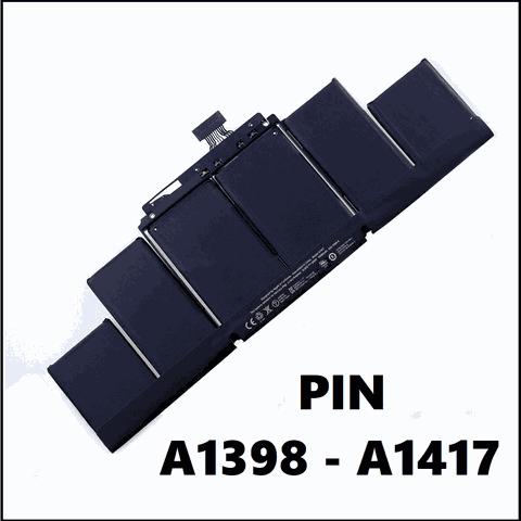 Thay Pin Macbook Tại Huế - Pin Macbook Pro 15 Inch A1398