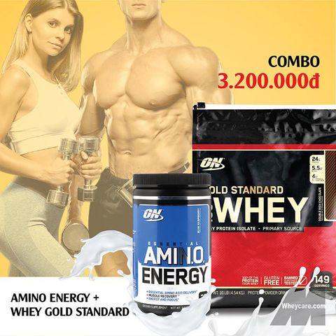 COMBO WHEY GOLD STANDARD 10LBS + AMINO ENERGY 270G
