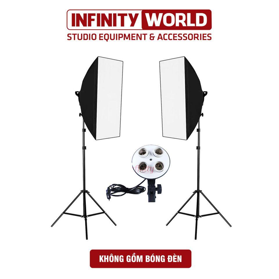 Set 2 đèn chụp sản phẩm đui 4 bóng công suất cao - Chụp ảnh, quay phim & livestream
