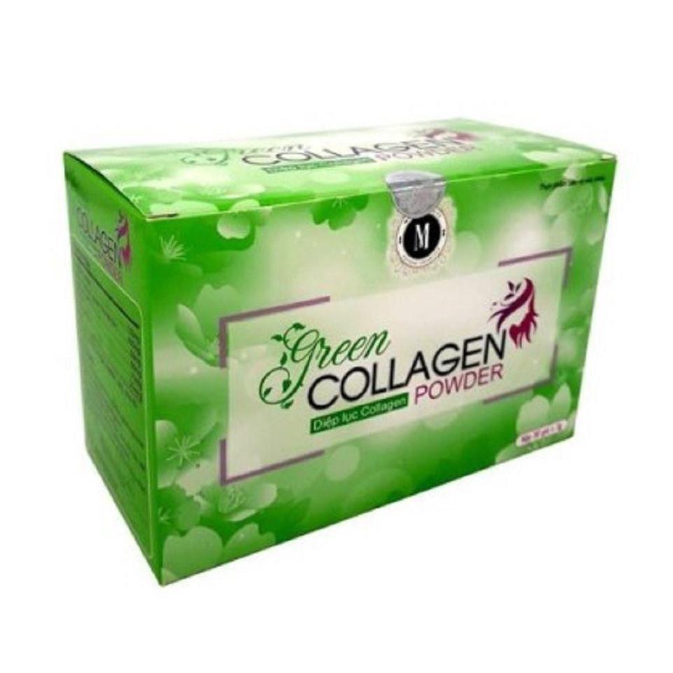 Diệp Lục Green Collagen Powder 30 gói chính hãng