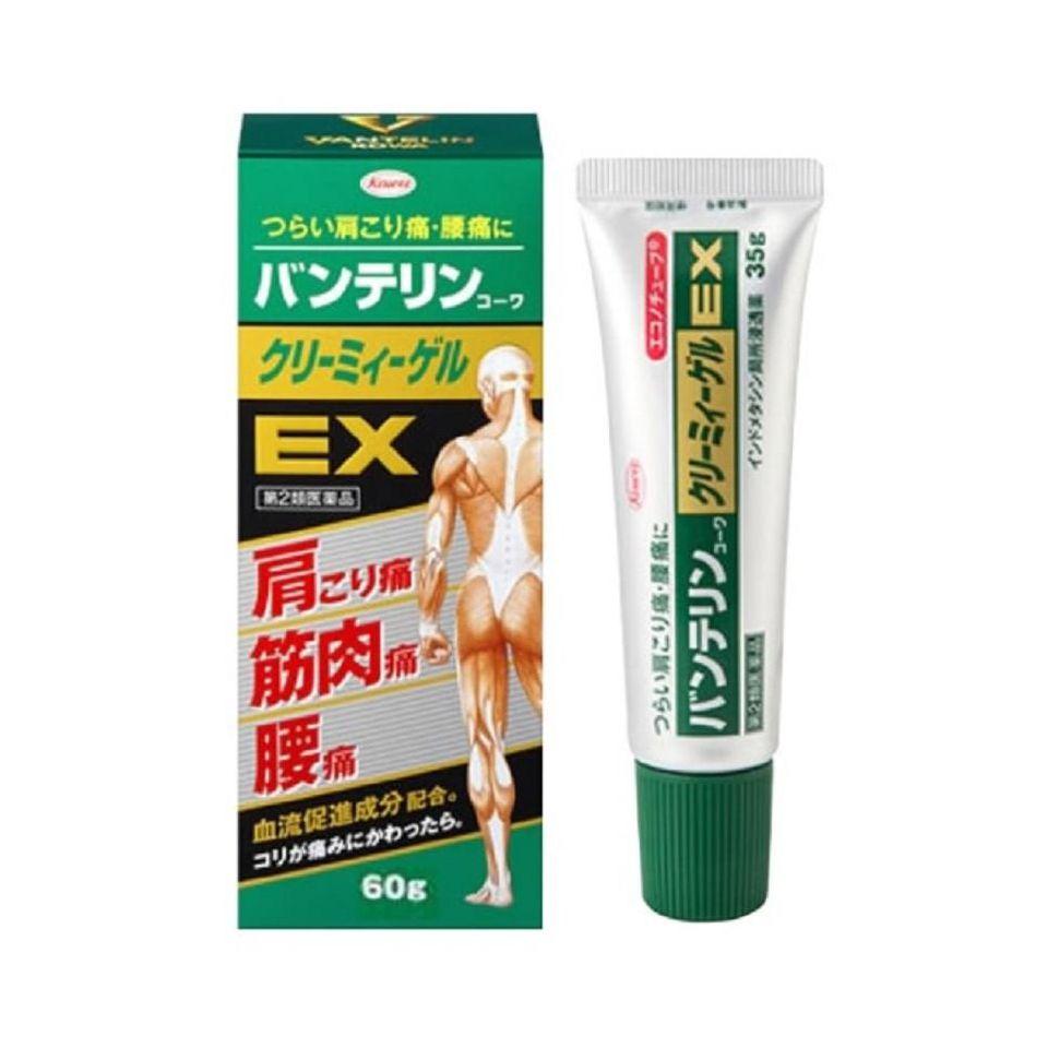 Gel bôi giảm đau nhức và viêm khớp Banterin Kowa EX 60g của Nhật Bản