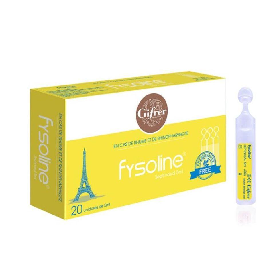 Nước muối vệ sinh mũi đặc trị Fysoline vàng kháng viêm chống sổ mũi (5ml/ống)/20 tép