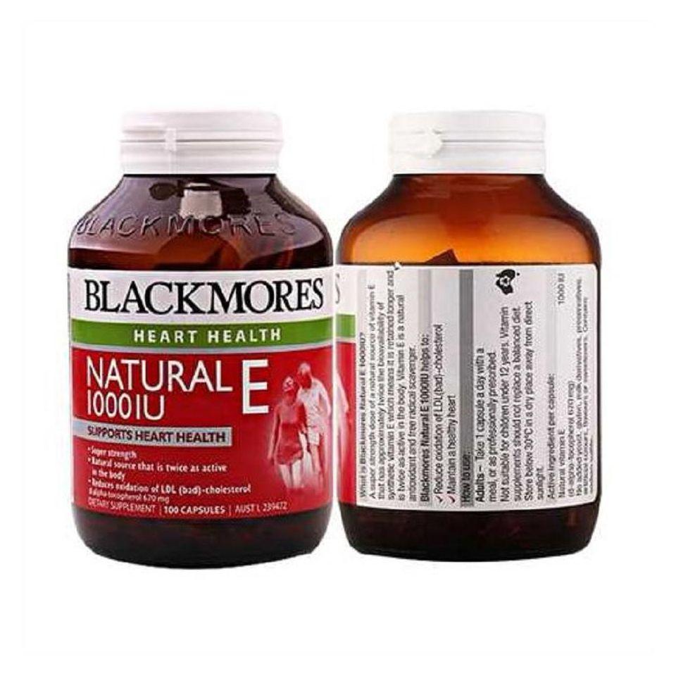 Viên Uống Blackmores Natural Vitamin E 1000IU Của Úc, 100 viên