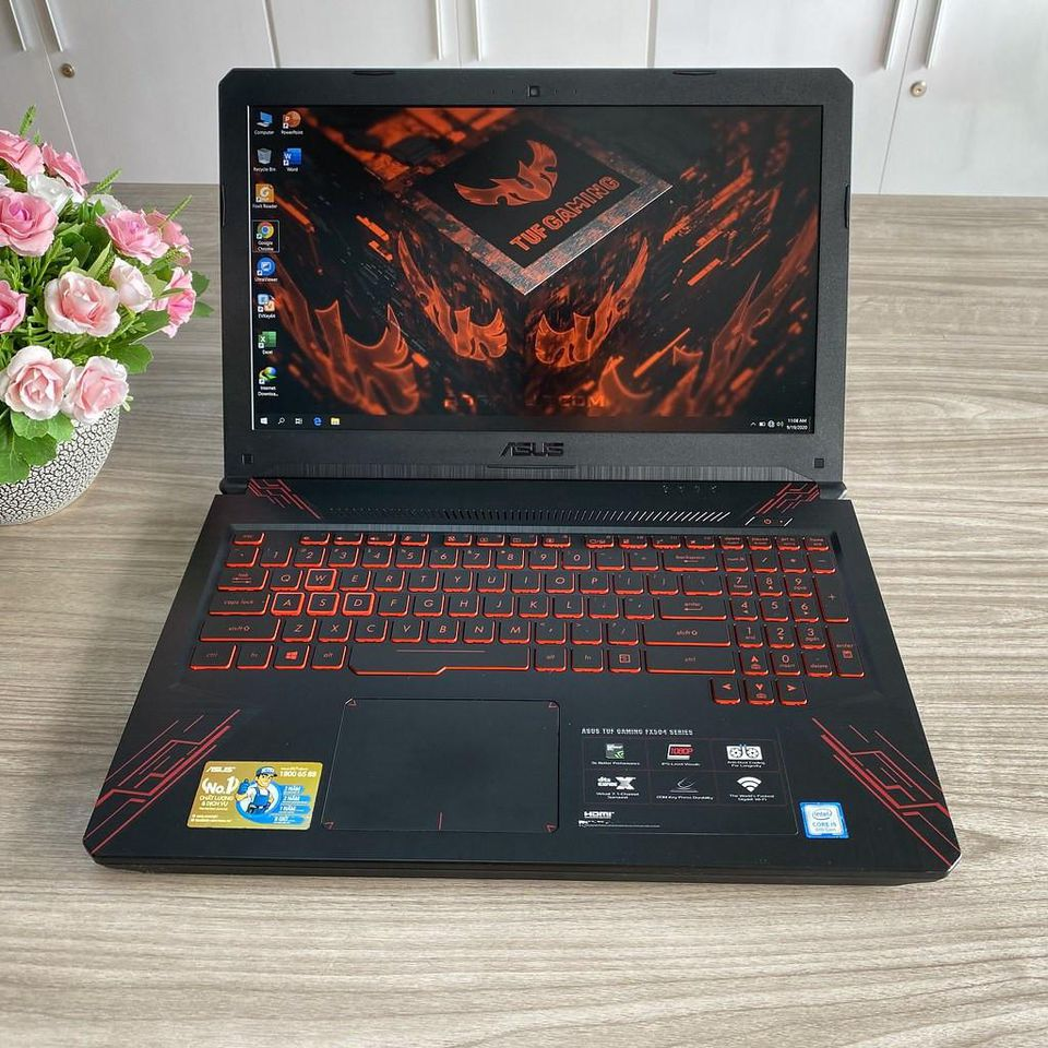 Asus Gaming TUF FX504GD-E4177T - Chip i5 8300H / Ram 8G / SSD 128G + HDD 1T / Card GTX 1050 / 15.6' IPS Full HD