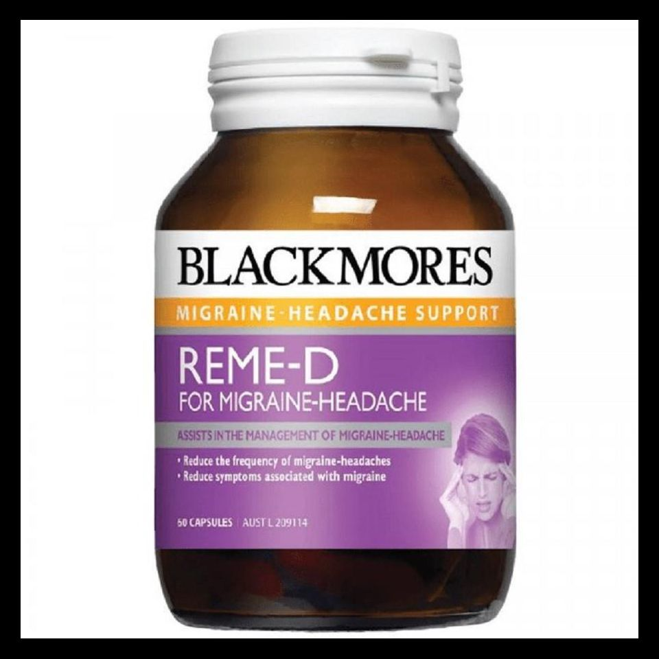 Viên uống Blackmores Reme-d 60 viên của Úc - thuốc đau đầu, rối loạn tiền đình