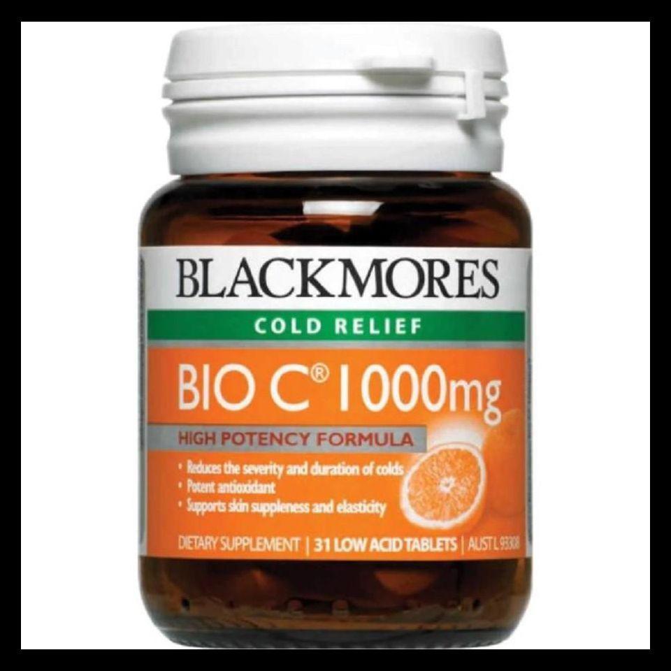 Thực Phẩm Bảo Vệ Sức Khỏe Blackmores Cold Relief Bio C 1000mg Tăng Cường Sức Đề Kháng