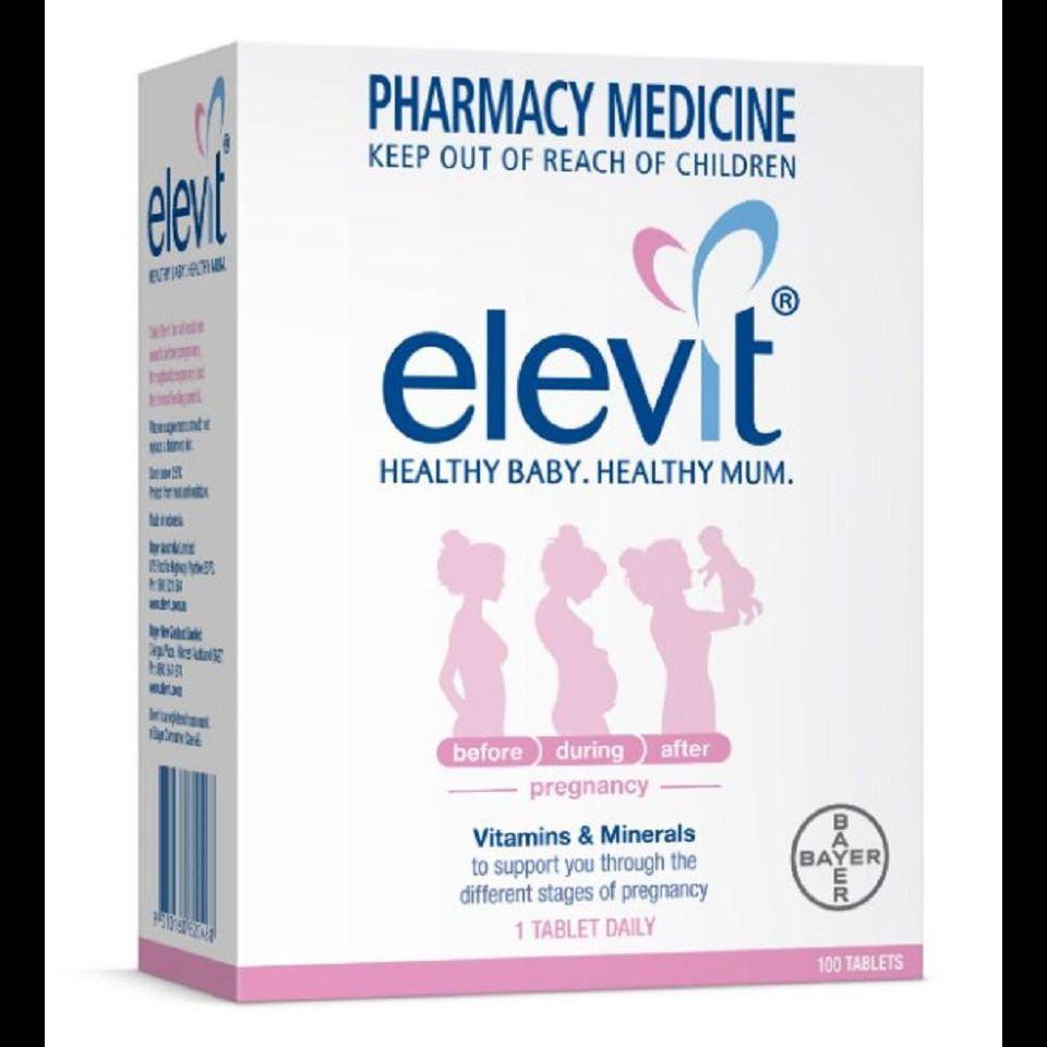 Viên uống Elevit dành cho bà bầu giai đoạn chuẩn bị và đang mang thai loại 100 viên của Úc