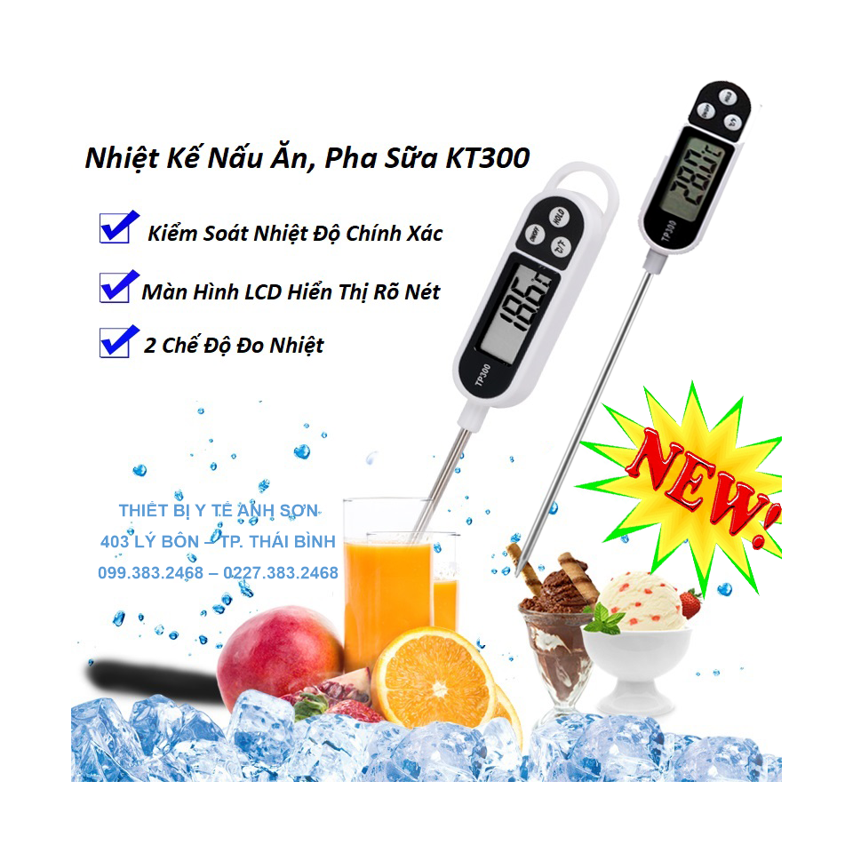 Nhiệt ẩm kế đo nước - đo nhiệt độ sữa - thực phẩm KT300