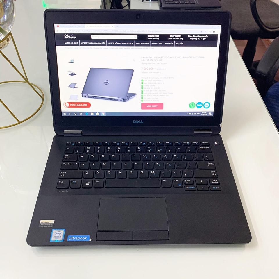Laptop Dell Latitude E7270 Core i5-6200U, Ram 8GB, SSD 256GB, Intel HD 520, 12.5 FHD